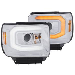 Anzo - Anzo Projector Headlight, GMC (2014-18) 1500 (2015-18) 2500/3500 (Chrome Housing/ Clear Lens)
