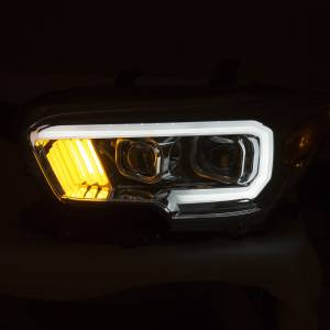 Anzo - Anzo Projector Headlight, Toyota (2016-18) Tacoma (Chrome Housing/ Clear Lens) - Image 2