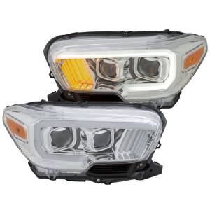 Anzo - Anzo Projector Headlight, Toyota (2016-18) Tacoma (Chrome Housing/ Clear Lens)