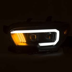 Anzo - Anzo Projector Headlight, Toyota (2016-18) Tacoma (Black Housing/ Clear Lens) - Image 2