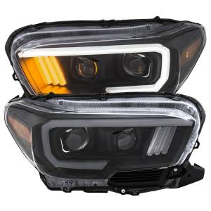 Lighting - Headlights/Driving Lamps - Anzo - Anzo Projector Headlight, Toyota (2016-18) Tacoma (Black Housing/ Clear Lens)