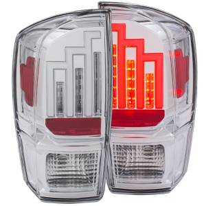 Lighting - Headlights/Driving Lamps - Anzo - Anzo LED Taillight, Toyota (2016-18) Tacoma (Chrome Housing/Clear Lens)