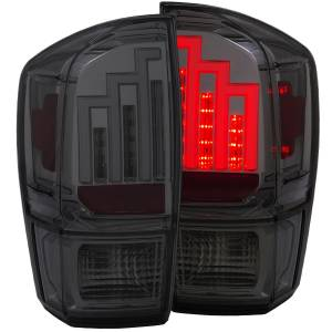 Anzo - Anzo LED Taillight, Toyota (2016-18) Tacoma (Black Housing/ Smoked Lens)