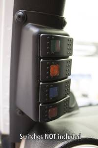 Daystar - Daystar A-Pillar Switch Panel, Jeep (2007-17) JK Wrangler (switches NOT included)