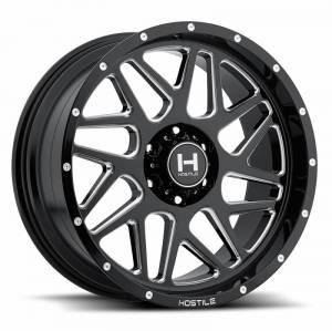 """8x180 Lug Wheels - 20 Inch Wheels - Hostile Wheels - Hostile Wheels 8x180, 20""""x10"""" Sprocket, Blade Cut (-19 Offset)"""
