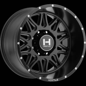 "8x170 Lug Wheels - 20 Inch Wheels - Hostile Wheels - Hostile Wheels 8x170, 20""x12"" Blaze, Asphalt (-44 Offset)"
