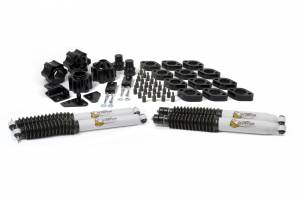 "Steering/Suspension Parts - 3"" Lift Kits - Daystar - DayStar 4"" Combo Kit, With 3"" Lift Kit, 1"" Body Lift Kit, Scorpion Shocks Automatic, Jeep JK Wrangler (2007-16)"