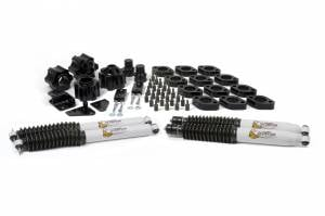 "Steering/Suspension Parts - 4"" Lift Kits - Daystar - DayStar 4"" Combo Kit, With 3"" Lift Kit, 1"" Body Lift Kit, Scorpion Shocks Automatic, Jeep JK Wrangler (2007-16)"