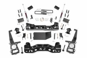 "Steering/Suspension Parts - 4"" Lift Kits - Rough Country - Rough Country 4"" Suspension Lift Kit, Ford (2009-14) F-150 (4WD)"