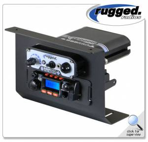 Rugged Radios - Rugged Radios RM-25R Mobile Radio & Intercom Below Dash Mount For Polaris RZR XP1000