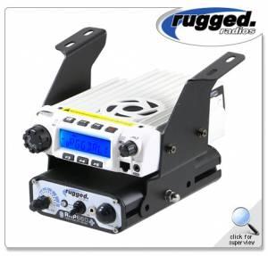 Rugged Radios - Rugged Radios Below Dash RM-60, RM-100, RM-50 or RM-45 and Intercom Mount for Polaris RZR XP1000