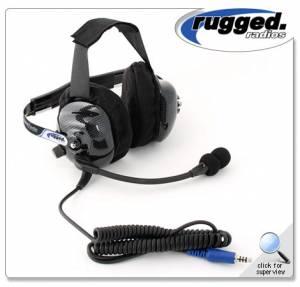 Rugged Radios - Rugged Radios H42 Behind The Head Ultimate Carbon Fiber 2-Way Headset