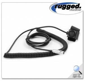 Rugged Radios - Rugged Radios HD Coil Cord Velcro PTT for Rugged Radios Intercoms