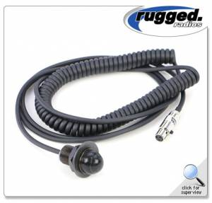 Rugged Radios - Rugged Radios Hole Mount Coil Cord PTT for Rugged Intercoms
