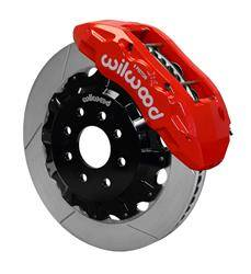 "Brakes & Exhaust Brakes - Disc Brake Conversion Kits - Wilwood - Wilwood Rear Big Brake Kit, Chevy/GMC (2001-10) 6.6L Duramax (Red) 4.84"" Center Register"