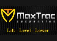 "Maxtrac - Maxtrac 2.5"" Leveling Kit With Fox Shocks, Dodge (2002-17) 1500 (4.7L, 2WD)"