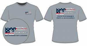 Apparel - KT Performance T-Shirts - KT Performance T-Shirt Red White and Blue Flag (Large)
