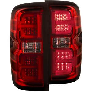 Anzo - Anzo LED Taillight, Chevy (2015-18) 1500/2500/3500 (Red Housing/Clear Lens)