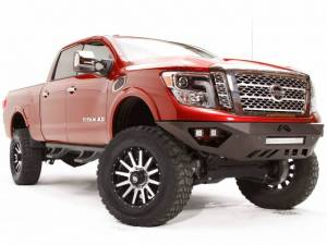 Brush Guards & Bumpers - Front Bumpers - Fab Fours - Fab Fours Vengeance Front Bumper, Nissan (2016-18) Titan XD