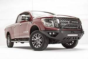 Brush Guards & Bumpers - Front Bumpers - Fab Fours - Fab Fours Vengeance Front Bumper W/ Prerunner Bar, Nissan (2016-18) Titan XD