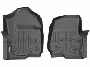 Weather Tech Front Floorliners, Ford (2017) F-250/F-350/F-450, Front, Black