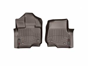Weather Tech - Weather Tech Front Floorliners, Ford (2017) F-250/F-350/F-450, Front, Cocoa