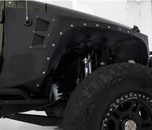 Exterior Accessories - Armor & Protection - Smittybilt - Smittybilt XRC Armor Front Fender Flare Kit, Jeep (2007-18) JK Wrangler