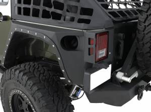 Smittybilt - Smittybilt XRC Armor Rear Corner Guard Kit, Jeep (2007-18) JK Wrangler, 2 Door