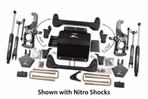"Steering/Suspension Parts - 5"" Lift Kits - Zone Offroad - Zone Offroad 5"" Suspension Lift Kit, Chevy,GMC (2011-18) 2500/3500 (W/ Factory mount top overloads)"