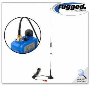 Rugged Radios - Rugged Radios Dual Band Magnetic Mount Antenna For Rugged RH-5R Handheld Radios