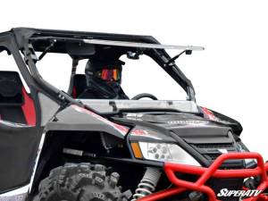 SuperATV - Arctic Cat Wildcat Scratch Resistant Flip Windshield