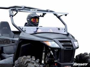 SuperATV - Arctic Cat Wildcat Trail Scratch Resistant Flip Windshield