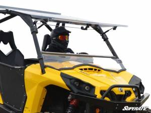 SuperATV - Can-Am Commander Scratch Resistant Flip Windshield