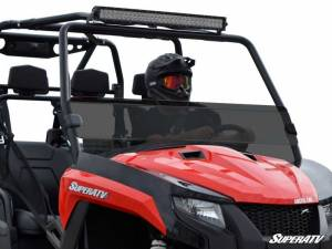 SuperATV - Arctic Cat HDX / Prowler Half Windshield (Standard Polycarbonate) - Dark Tint