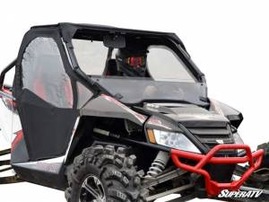 SuperATV - Arctic Cat Wildcat Half Windshield (Scratch Resistant Polycarbonate) - Clear