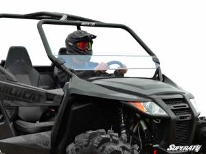 SuperATV - Arctic Cat Wildcat Trail Half Windshield (Scratch Resistant Polycarbonate) - Clear