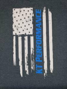 KT Performance T-Shirt Blue Stripe Flag (Medium) - Image 2