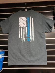 KT Performance T-Shirt Blue Stripe Flag (Medium) - Image 4