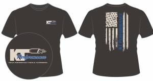 Apparel - KT Performance T-Shirts - KT Performance T-Shirt Blue Stripe Flag (Large)