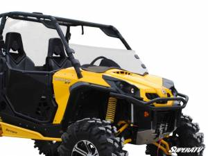 SuperATV - Can-Am Commander Half Windshield (Scratch Resistant Polycarbonate) - Clear