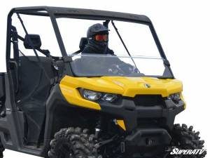 SuperATV - Can-Am Defender Half Windshield (Scratch Resistant Polycarbonate) - Clear
