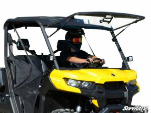 SuperATV - Can-Am Defender Scratch Resistant Flip Windshield