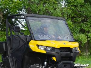 SuperATV - Can-Am Defender Scratch Resistant Vented Full Windshield