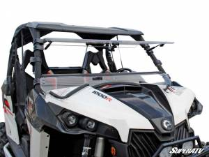 SuperATV - Can-Am Maverick Scratch Resistant Flip Windshield