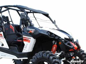 SuperATV - Can-Am Maverick Scratch Resistant Half Windshield (Scratch Resistant Polycarbonate) Clear