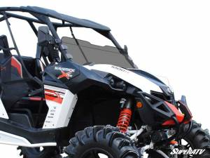 SuperATV - Can-Am Maverick Scratch Resistant Half Windshield (Standard Polycarbonate) Dark Tint