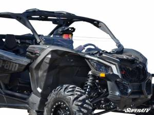 UTV Windshield - Half Windshields - SuperATV - Can-Am Maverick X3 Half Windshield (Scratch Resistant Polycarbonate) - Clear