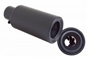 Gibson Performance - Gibson UTV Performance Muffler Quiet Tip Clamp on, Rolled Edge (Black Ceramic)
