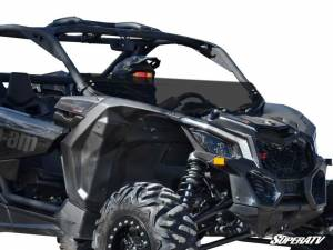 UTV Windshield - Half Windshields - SuperATV - Can-Am Maverick X3 Half Windshield (Standard Polycarbonate) - Dark Tint