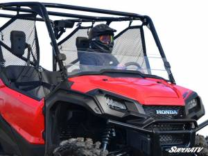 UTV Windshield - Half Windshields - SuperATV - Honda Pioneer 1000 Scratch Resistant Half Windshield (Scratch Resistant Polycarbonate) -Clear